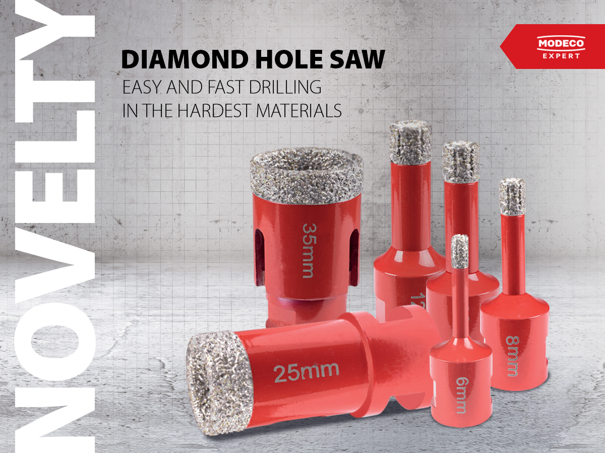 Diamond hole saws – easy and quick drilling in the hardest materials